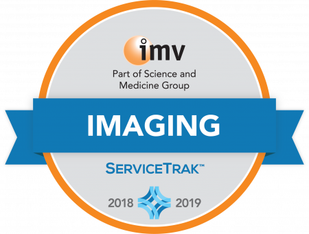 Certification icon for Philips ultrasound imaging systems award by IMV ServiceTrack™