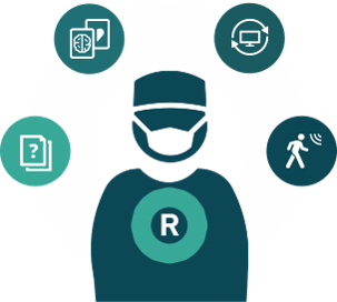 Radiology diagnostic confidence icon