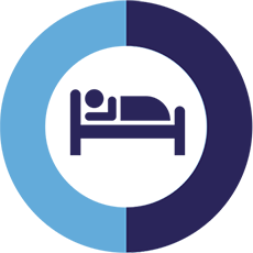 Supine sleep icon