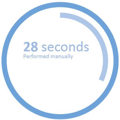 28 seconds performed manually