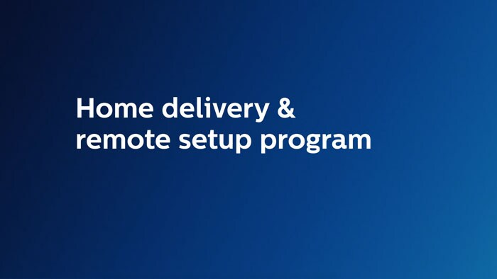 Home delivery and remote setup program
