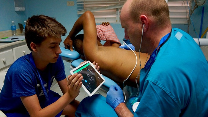 Lumify reacts tele ultrasound in Dominican Republic