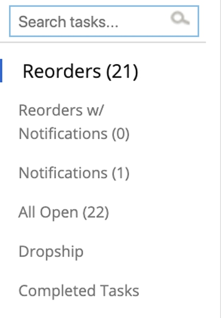 Reorders with notification