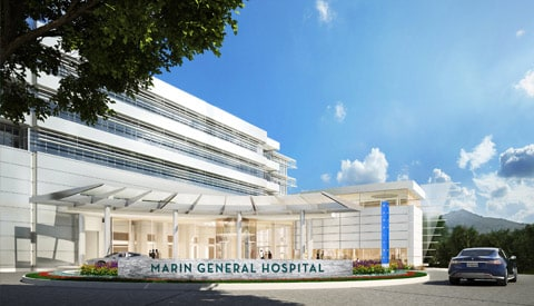 Concept drawing of the new MGH hospital