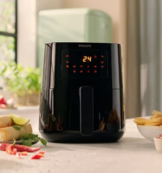 Image of airfryer front side
