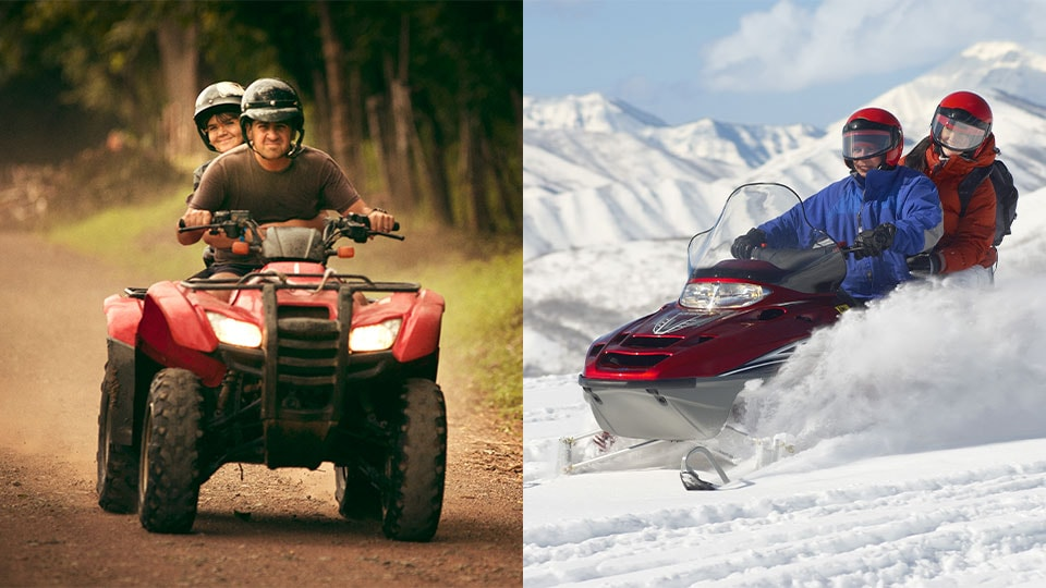 Motovision snowmobile atv