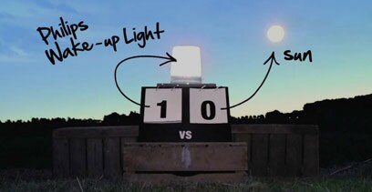 wake up light vs the sun
