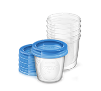 Philips Avent breastfeeding milk storage cups