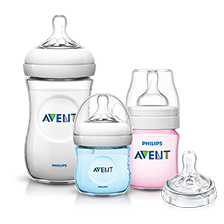 Range of Philips Avent Bottle Natural with Nipples