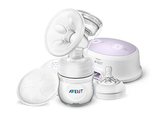 Single electric breast pump and nipples Philips Avent