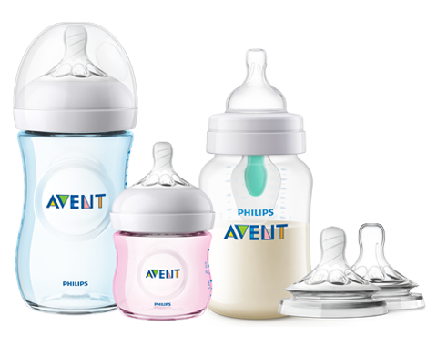 Range of Philips Avent Bottle: Anti-colic and Natural Bottles with Nipples