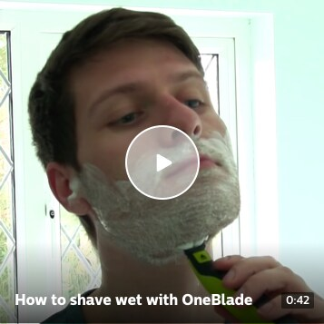 How to shave wet with OneBlade
