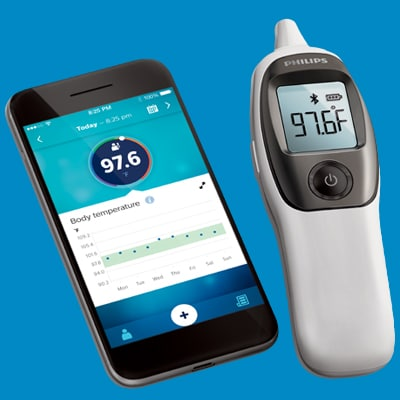 Connected ear thermometer