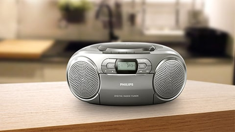 Philips CD player, boombox
