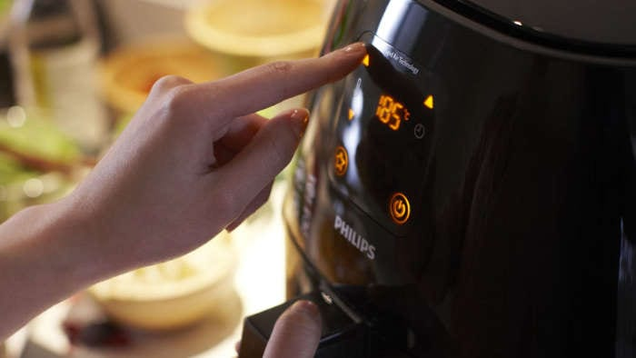 Airfryer adjustable timer