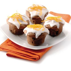 Chocolate cup cakes with icing
