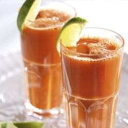 Carrot and Ginger Juice with Lime