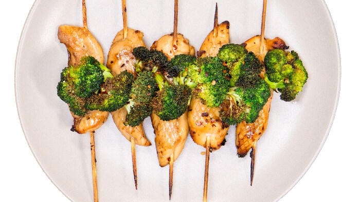 Spicy Garlic Broccoli Roasted Chicken Airfryer Recipe
