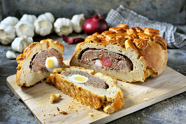 Hornazo (Spanish stuffed Easter bread)