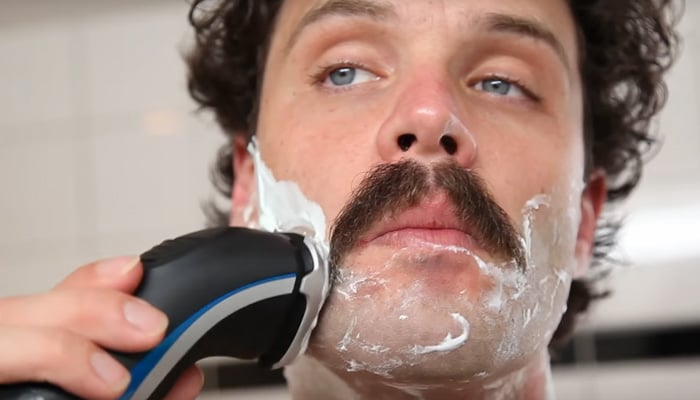 Handlebar mustache video