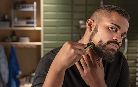 Philips Norelco OneBlade does it all…shave trim & edge with one tool!