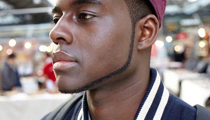 Strap mens chin Facial Hair: