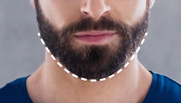 Admirable How To Trim Shape A Beard Neckline Philips Natural Hairstyles Runnerswayorg