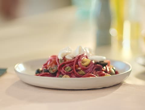 Beetroot fettuccini video mobile