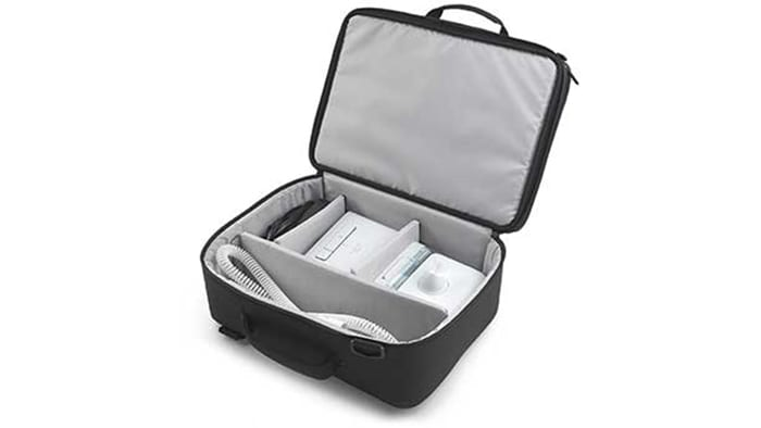 Travel briefcase with detachable laptop bag