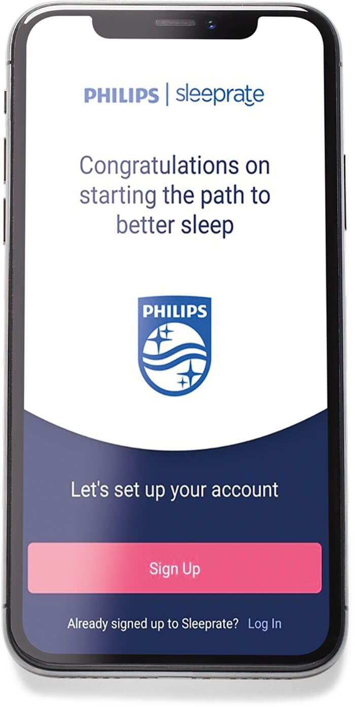 whats included with the better sleep program - image of app on phone