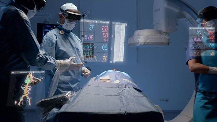 Download image (.jpg) Philips? unique augmented reality concept for image guided minimally invasive therapies developed with Microsoft (opens in a new window)